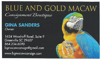 blue and gold macaw consignment